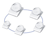 Round Magnetic Clip-Silver